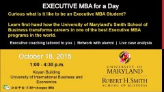 UMD-Smith Global Leadership EMBA for a Day!