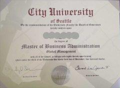 美国西雅图城市大学学历学位认证书是什么样的?