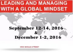 Leading and Managing with A Global Mindset